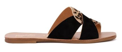 Square Toe Casual Style Suede Other Animal Patterns Leather