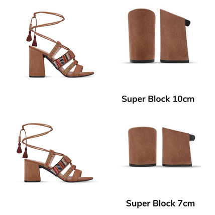 Open Toe Platform Lace-up Casual Style Pin Heels Party Style