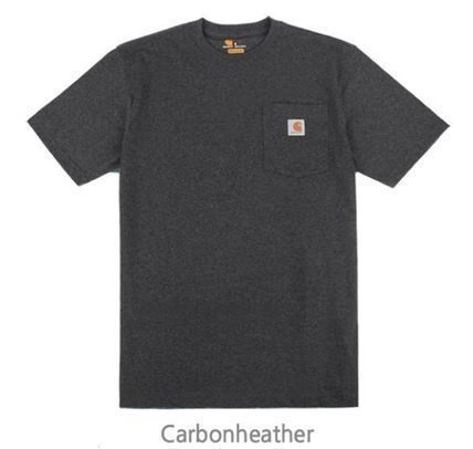Carhartt Crew Neck Crew Neck Unisex Street Style Plain Cotton Short Sleeves 4