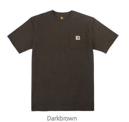 Carhartt Crew Neck Crew Neck Unisex Street Style Plain Cotton Short Sleeves 7