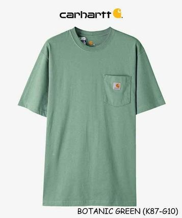 Carhartt Crew Neck Crew Neck Unisex Street Style Plain Cotton Short Sleeves 13