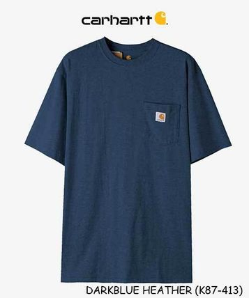 Carhartt Crew Neck Crew Neck Unisex Street Style Plain Cotton Short Sleeves 14
