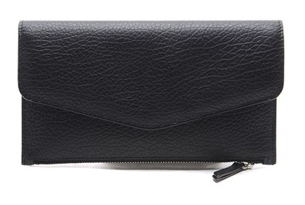 Maison Margiela Unisex Street Style Leather Long Wallets