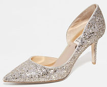 Badgley Mischka Leather Party Style With Jewels High Heel Pumps & Mules