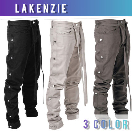 Unisex Street Style Plain Cotton Joggers & Sweatpants