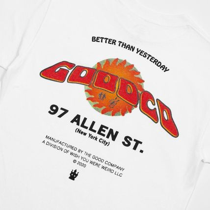 The Good Company More T-Shirts Pullovers Unisex Street Style Plain Cotton Logo T-Shirts 3