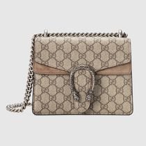 GUCCI Dionysus Canvas Suede 2WAY Chain With Jewels Crossbody Logo