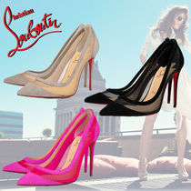 Christian Louboutin Suede Pin Heels Stiletto Pumps & Mules