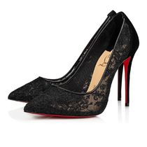 Christian Louboutin Flower Patterns Casual Style Pin Heels Elegant Style