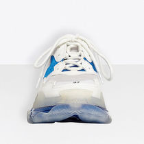 BALENCIAGA Triple S Blended Fabrics Logo Low-Top Sneakers