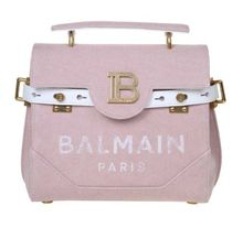 BALMAIN 2WAY Plain Leather Logo Handbags