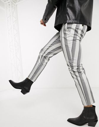 ASOS Tapered Pants Stripes Street Style Tapered Pants