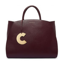 COCCINELLE Casual Style A4 2WAY Plain Leather Elegant Style Crossbody