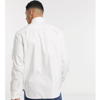 FRED PERRY Shirts Unisex Long Sleeves Cotton Logo Shirts 3