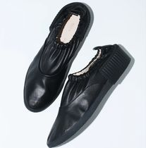TOGA Monk Rubber Sole Blended Fabrics Street Style Plain Leather
