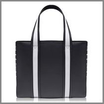 Pierre Hardy Canvas 2WAY Leather Elegant Style Totes