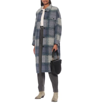 Casual Style Wool Long Oversized Coats