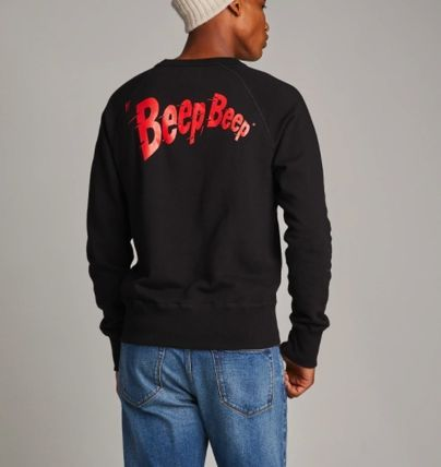 Crew Neck Collaboration Long Sleeves Cotton Sweatshirts