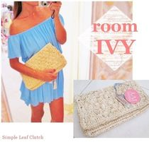 room IVY Stripes Casual Style Handmade Clutches