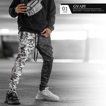 GUAPI Printed Pants Camouflage Street Style Patterned Pants