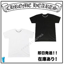 CHROME HEARTS SCROLL Street Style Graphic Prints T-Shirts
