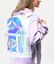 CHAMPION Street Style Crystal Clear Bags Glitter Logo Sheer Backpacks