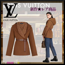 Louis Vuitton Wrap Peacoat In Wool And Silk With Monogram Detail