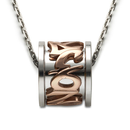 Unisex Metal Street Style Silver Stainless
