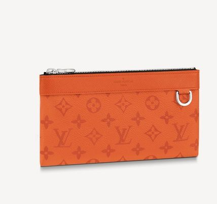 Louis Vuitton TAIGA Monogram Leather Logo Wallets & Card Holders