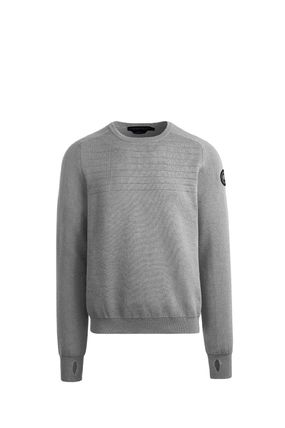 Crew Neck Wool Street Style Long Sleeves Plain