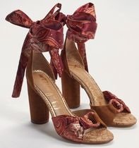 Sam Edelman Paisley Open Toe Casual Style Blended Fabrics Leather