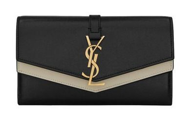 Leather Logo Long Wallets