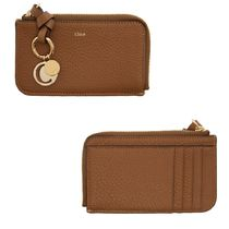 Chloe Calfskin Leather Long Wallet  Small Wallet Logo Coin Cases