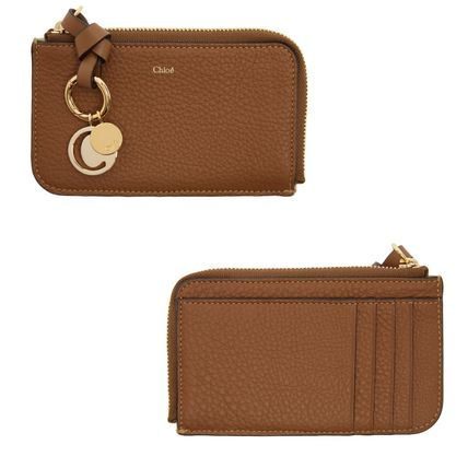 Calfskin Leather Long Wallet  Small Wallet Logo Coin Cases
