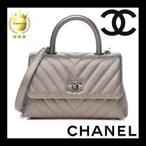 CHANEL COCO COCOON Casual Style Lambskin 2WAY Plain Leather Party Style