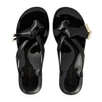 TED BAKER Rubber Sole Casual Style Plain Flip Flops Flat Sandals
