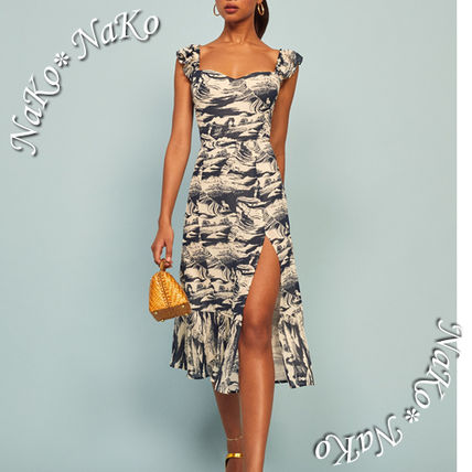 Casual Style A-line Sleeveless Other Animal Patterns Medium