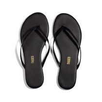 TKEES Casual Style Plain Leather Handmade Flip Flops Elegant Style