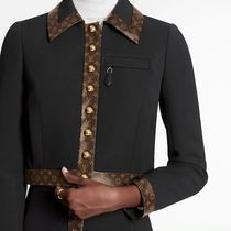 Louis Vuitton MONOGRAM Black Cropped Jacket With Monogram Trim