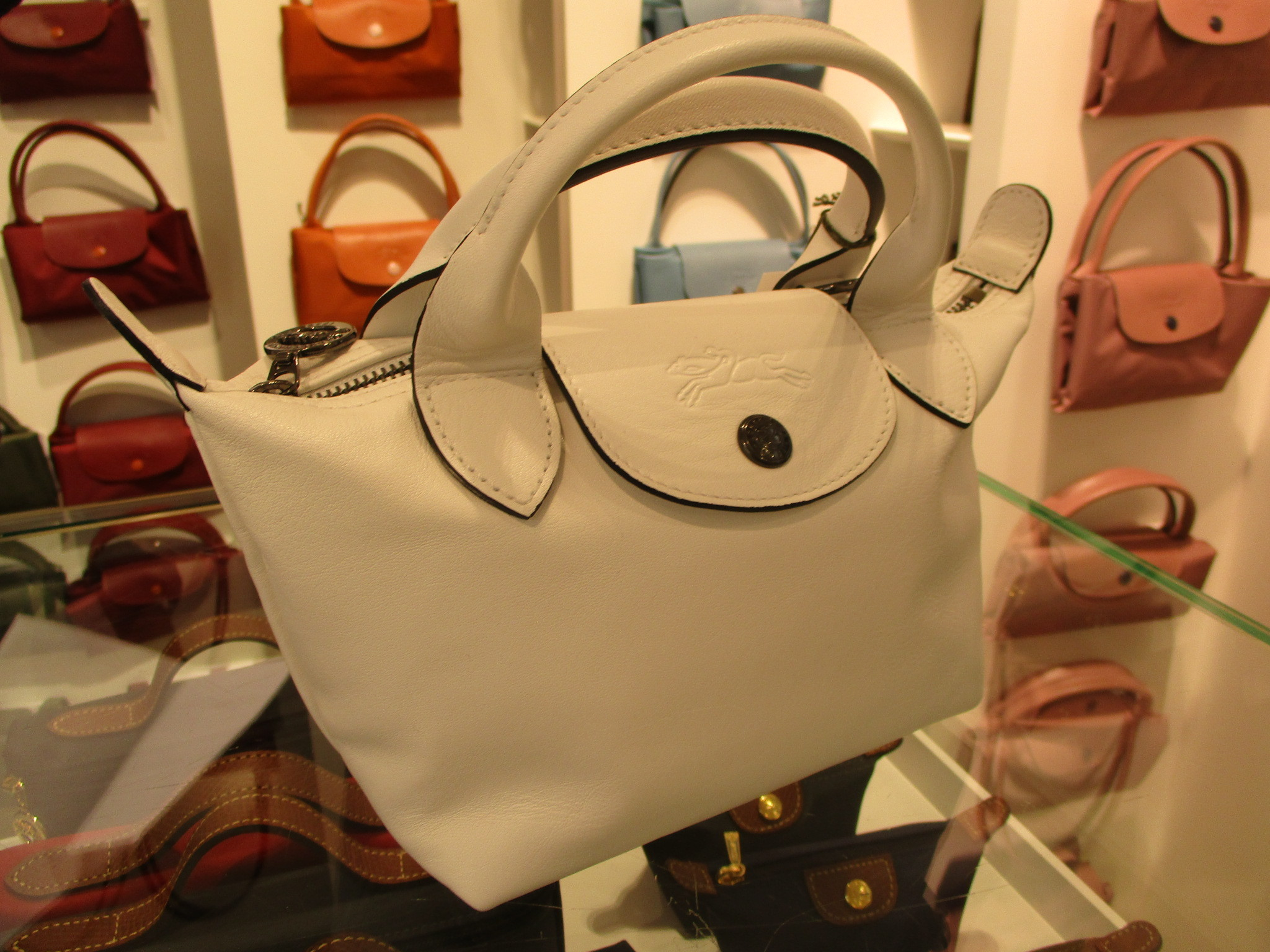 shop longchamp le pliage cuir