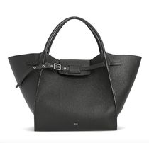 CELINE Big Bag Calfskin 2WAY Plain Leather Elegant Style Totes