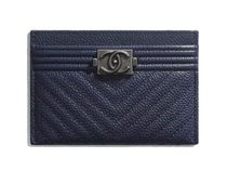 CHANEL Unisex Leather Folding Wallets