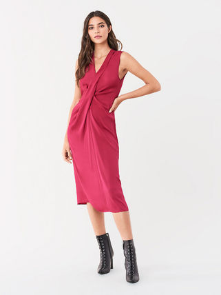 Wrap Dresses Sleeveless Party Style Office Style