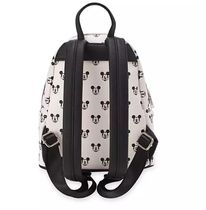 LOUNGE FLY Dots Casual Style Faux Fur Collaboration Logo Backpacks