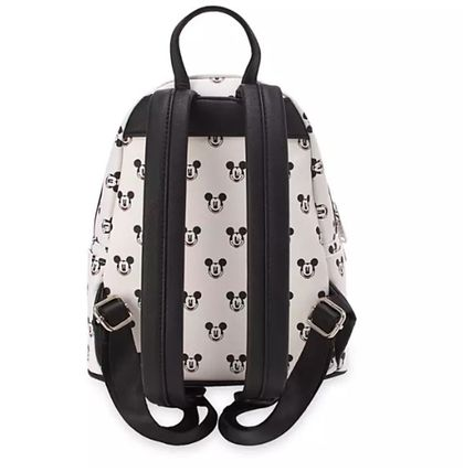 Dots Casual Style Faux Fur Collaboration Logo Backpacks