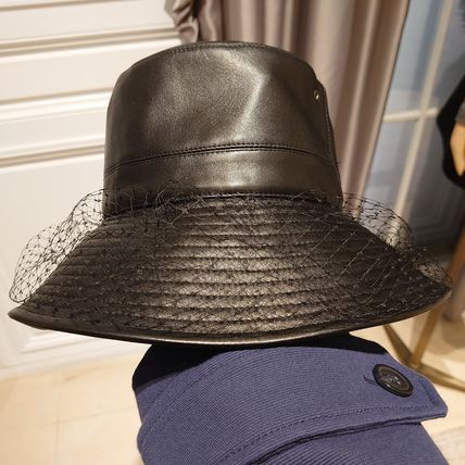 Christian Dior Teddy-D Large Brim Bucket Hat With Veil