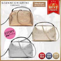 GIANNI CHIARINI Casual Style 2WAY Leather Party Style Office Style