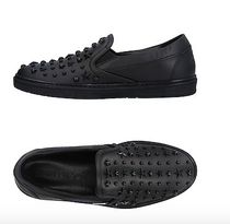 Jimmy Choo Monogram Studded Leather Handmade Logo Sneakers