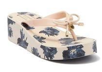 kate spade new york Flower Patterns Platform Casual Style Studded