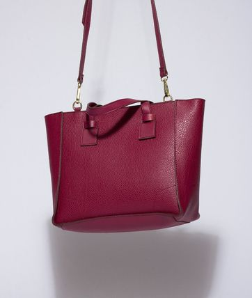 Casual Style Street Style A4 Plain Leather Elegant Style